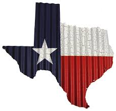corrugated metal texas flag map wall decor small