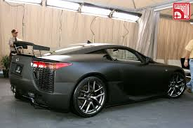 lexus lfa blacked out.  Out Looking Sinister In Matte Black  Throughout Lexus Lfa Blacked Out