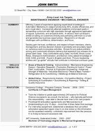 Mechanical Engineer Resume Template Unique Engineering Resume Format Luxury Mechanical Engineering Resume