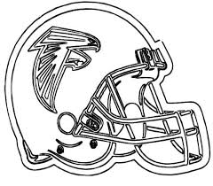 nfl football helmet for games coloring page
