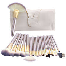 24pcs pro makeup brushes cosmetic tool kit kabuki make up powder brush set case