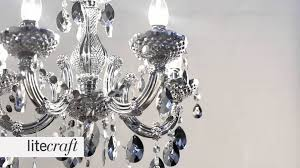marie therese 5 light silver chandelier litecraft lighting your home