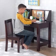 study desk with chair espresso