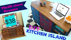 diy kitchen island from dresser. How To Make A Kitchen Island From Thrift Store Dresser Diy D