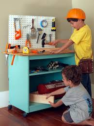 Play Kitchen From Old Furniture How To Turn Old Furniture Into A Kids Toy Workbench How Tos Diy