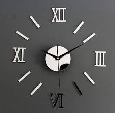 image is loading 3d modern design luxury wall clocks mirror home  on wall clock art design with 3d modern design luxury wall clocks mirror home decor stickers art