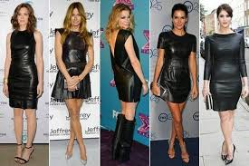 black leather dress outfits for