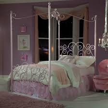 Standard Furniture Princess Canopy Beds Twin Metal Canopy Bed with Clear  Post Finials | Wayside Furniture | Canopy Bed