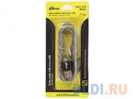 Дата-<b>кабель</b> Black USB-microUSB <b>Ritmix</b> RCC-312, силиконовая ...