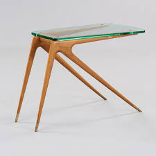 Italian Design Coffee Tables Carlo Di Carli Attributed Maple Glass And Brass Side Table
