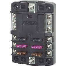 fuse block blue sea 5030 st blade fuse block w o cover 6 circuit w