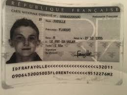 Id ie French Lost Card -