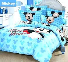 mickey mouse bed sheets king size india bedding sets full comforter blue self