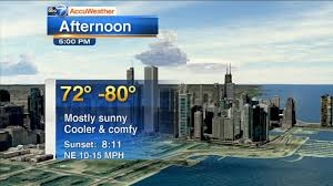 Chicago Accuweather Mostly Clear Nice Overnight Abc7chicagocom