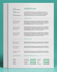 Free Resume Layout Template Cool 48 Free ResumeCV Templates To Help You Get The Job