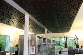 false ceiling acoustic panel mdf decorative perforated office sprecher schneider