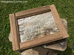 diy barn wood picture frame tutorial
