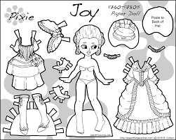 a png to print and color more pixie puck printable paper dolls as with the rest of this series i based her color scheme off my 18th century