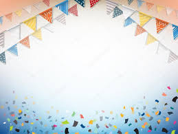 Celebrate Banner Celebrate Banner Party Flags With Confetti Vector Stock
