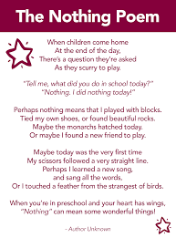the nothing poem a poem about preschool