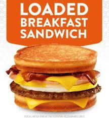 box loaded breakfast sandwich