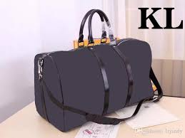 keepall bandouliÈre genuine leather luggage mens travel bag weekend duffle bag luxury brand bag carry on gym handbag 45 50 55cm book bags leather bags from
