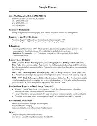 Tech Resume Amazing 4848 Xray Tech Resume Modelcv