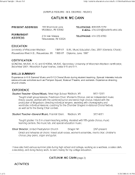 Free Musician Resume Template Musician Resume Templates Free Sidemcicek 15