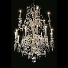 19th century italian bohemian crystal 18 light chandelier