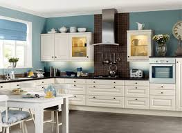 Cool White Paint Colors For Kitchen Cabinets And Blue Wall Colors ...
