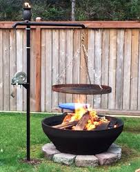 custom swinging fire pit