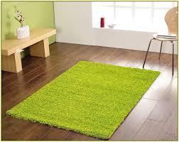 lime green area rug floor