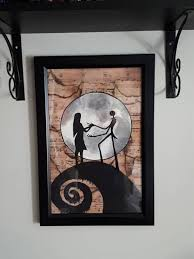Add a unique timepiece to your home featuring art and trending designs from independent browse our selection of jack sally wall clocks and find the perfect design for you—created by our community of independent artists. Oil Painting Home Wall Decor Jack And Sally S Love Canvas Art Print 12x16