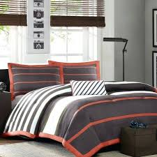 rug decorative orange and gray bedding white comforter twin amazing 8 extraordinary set dark stripes black sets hotel