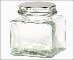 square glass e jars