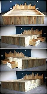 shipping pallet furniture ideas. Top 60 Superb Recycled Wooden Pallet Giant Frame With Storage Pallets Ideas Shipping Making Bedroom Furniture Made From Using Under Style Headboard Basic C