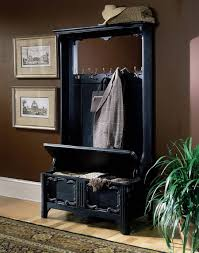 Have Extra Storage Near The Door With Placing Hall Tree Bench Black Hall Bench