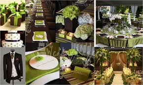 Wedding Color Palette- Lime Green and Chocolate