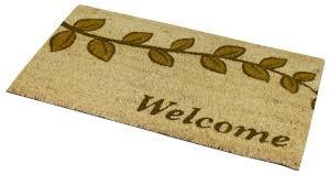 JVL PVC Backed Coir Doormat Indoor Outdoor Welcome Home Garden ...