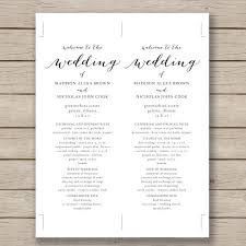 Microsoft Wedding Program Templates Microsoft Word Wedding Program Wedding Program Template Microsoft