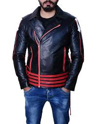 red and black fred mercury leather jacket
