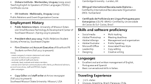 Standard Font Size For Resume What Font Size For Resume Resume