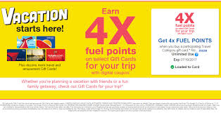 4x kroger fuel points when you gift cards valid until july 19
