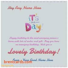 Gift Cards Maker Online Birthday Card Maker With Name Feat Happy Birthday Cake Image