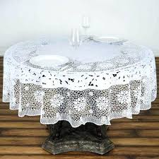 fair vinyl table pads for dining room tables white disposable waterproof lace vinyl round tablecloth protector