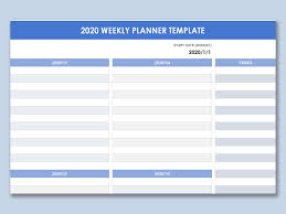Planner 2020 Template Wps Template Free Download Writer Presentation