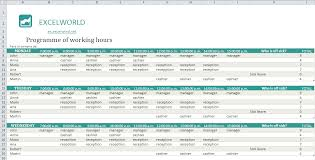 Excel Employee Schedule Template Free Excel Spreadsheets
