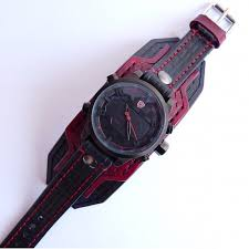black red leather cuff watch wrist watch leather men s watch black red leather cuff watch wrist watch leather men s watch leather cuff
