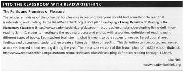 Reclaiming Pleasure in the Teaching of Reading