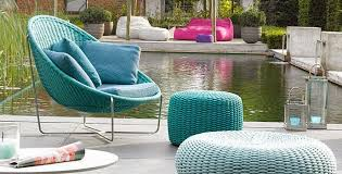 pool side blue with nido chair pouf and s ottoman
